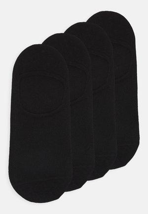 SOFT BIO FOOTIES UNISEX 4 PACK - Trainer socks - black