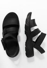 Skechers Sport - CALI - Platform sandals - black - 3