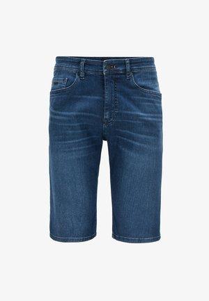 TABER - Denim shorts - dark blue