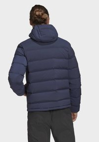 adidas Performance - HELIONIC SOFT HOODED DOWN JACKET - Down jacket - blue - 3