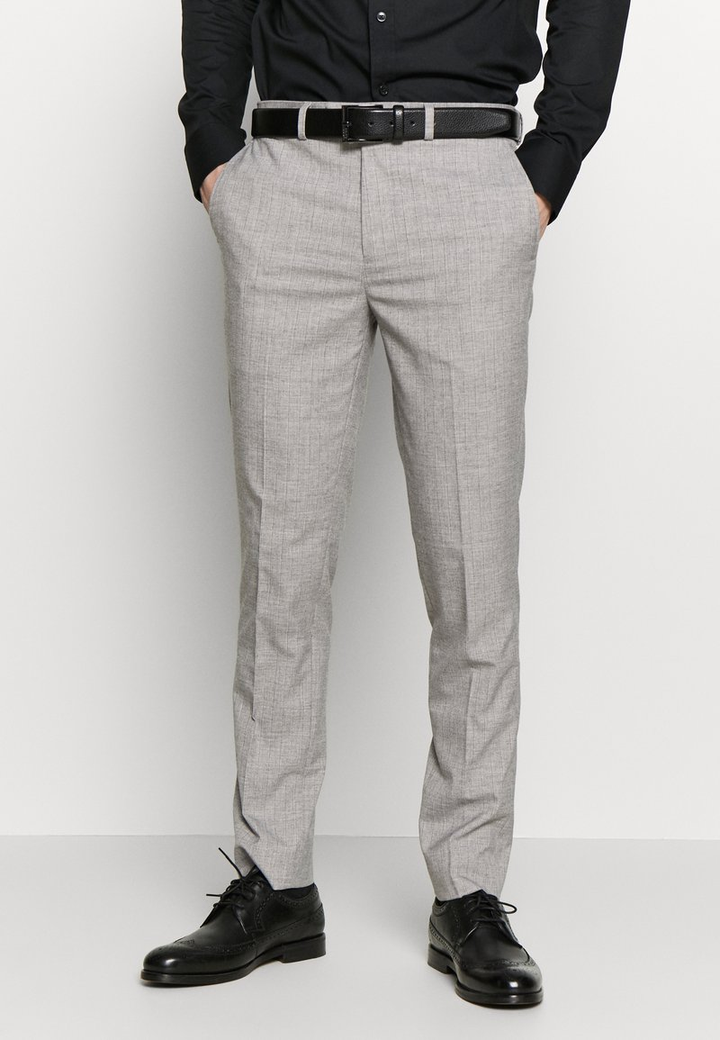 Burton Menswear London - STRIPE - Kostymbyxor - grey