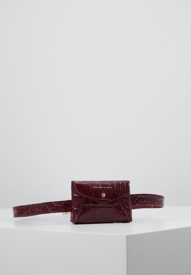 CINDY MINI PURSE BELT - Saszetka nerka - wine and dine