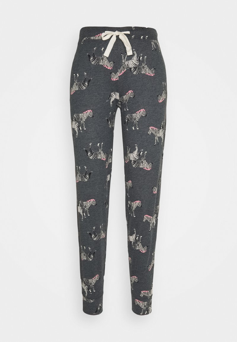 Marks & Spencer London - ZEBRA PANT - Pyjama bottoms - charcoal