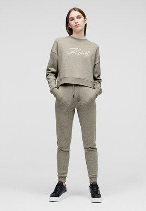 W/ LOGO - Sweatshirt - grey melange