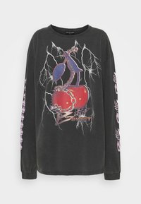 NEW girl ORDER - BITTER SWEET CHERRY ACID WASH - Long sleeved top - charcoal - 0