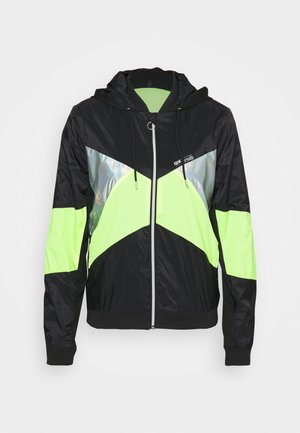 ONPAGATA JACKET - Training jacket - black/safety yellow /iridescent
