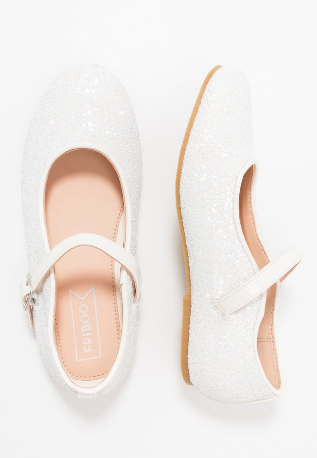 Ballerinaskor med remmar - white