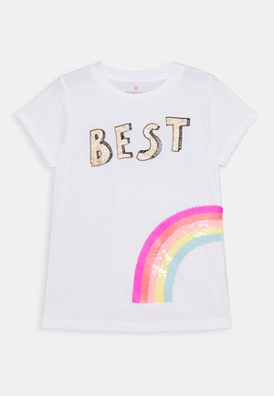 BEST FRIEND TEE - Print T-shirt - white
