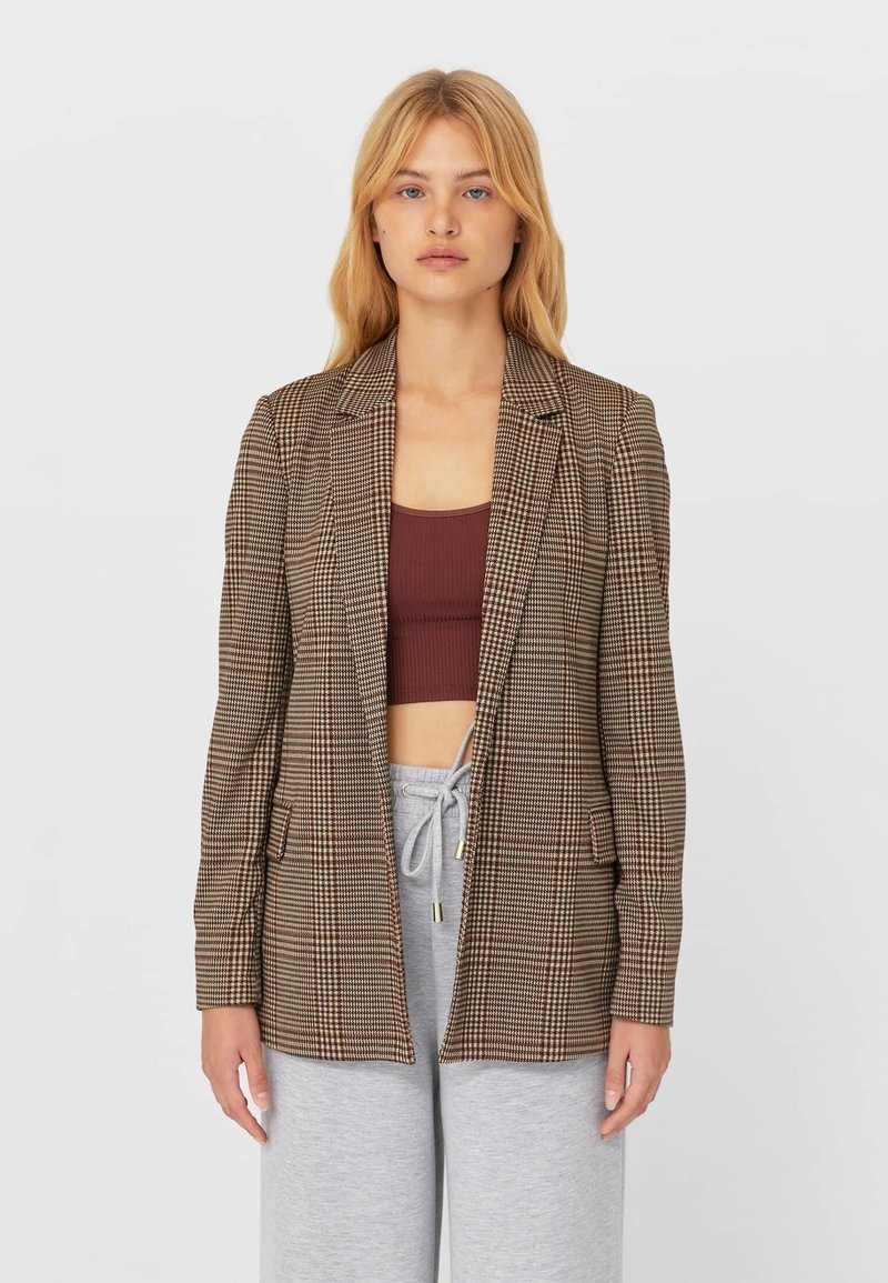 Stradivarius - Blazer - light brown