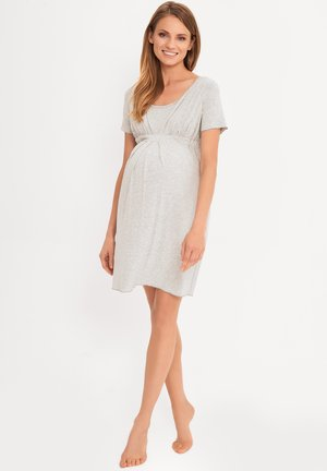 MATERNITY & NURSING  BASIC - Nightie - grey
