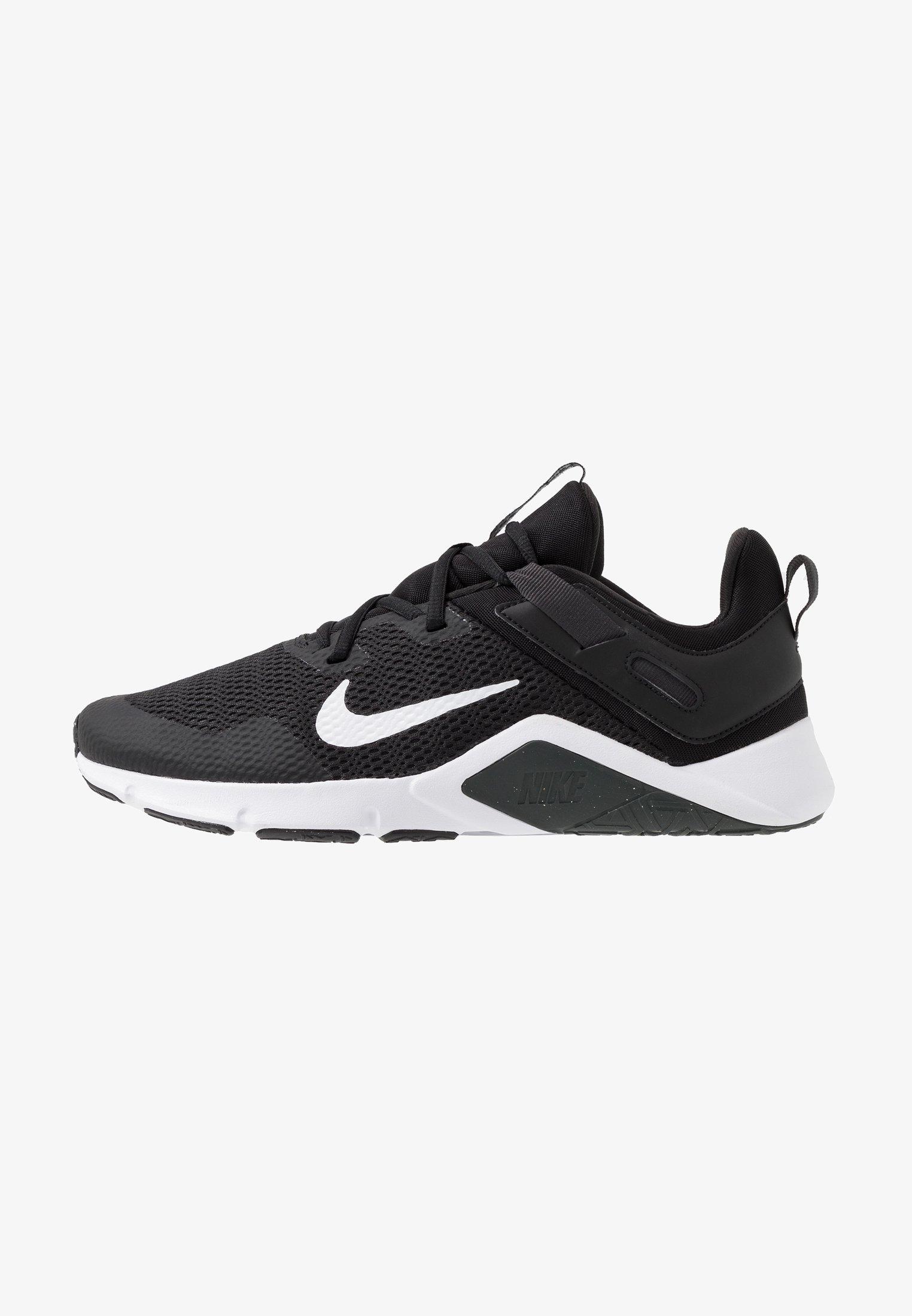 lote O tranquilo  Nike Performance LEGEND ESSENTIAL - Sports shoes - black/white/dark smoke  grey/black - Zalando.co.uk
