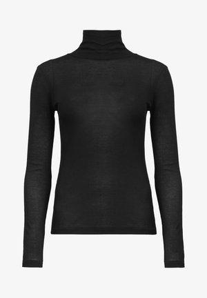 FRANCESCO ROLL NECK - T-shirt à manches longues - mottled black