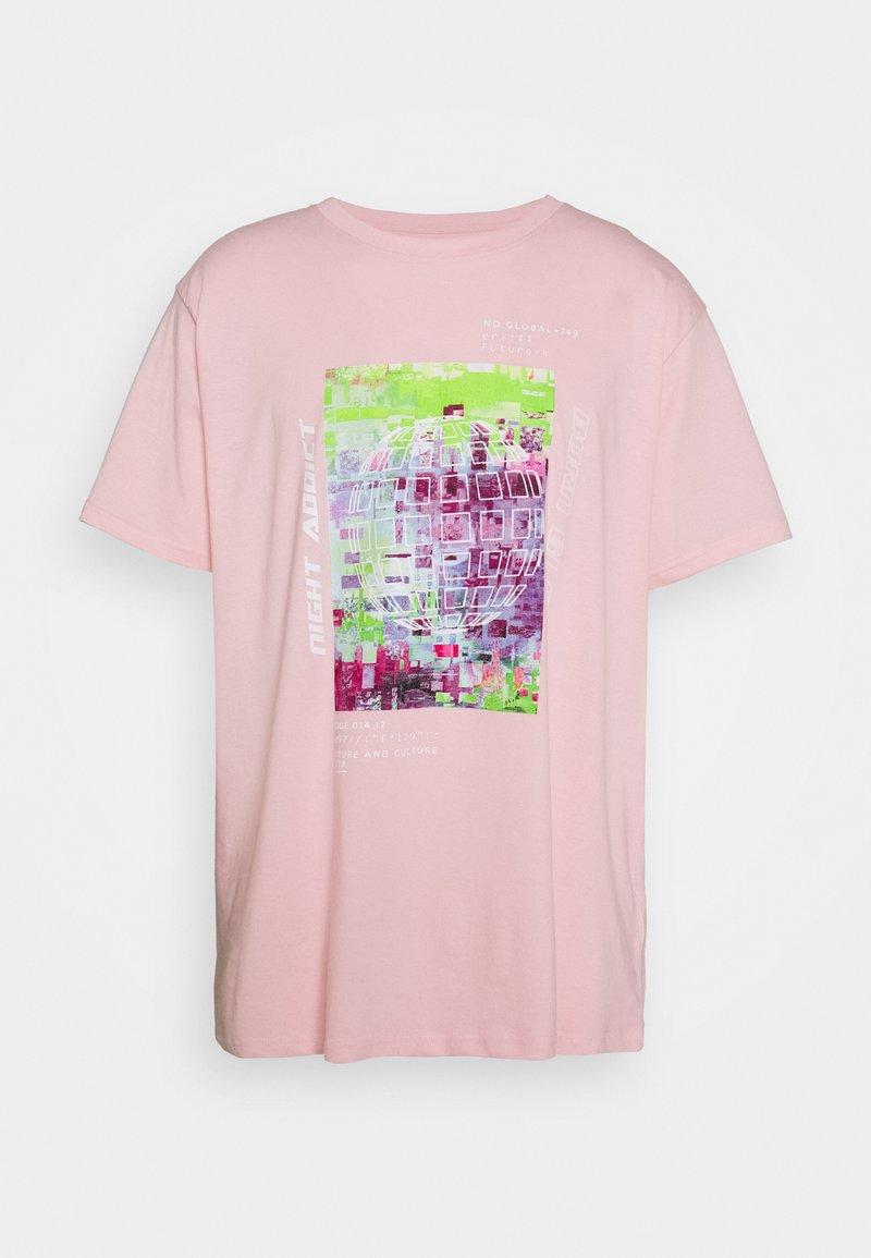 Night Addict - UNISEX ELIJAH - Printtipaita - pink