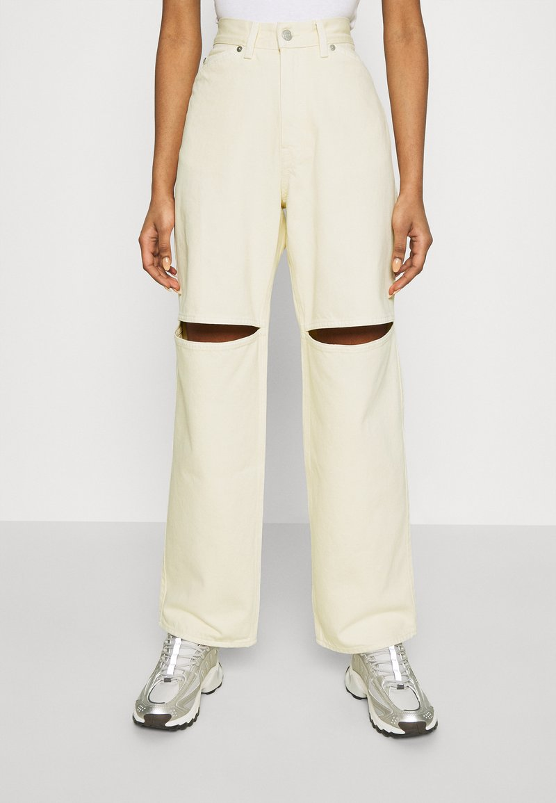 Weekday - BRAE TROUSERS - Jeans straight leg - vanilla