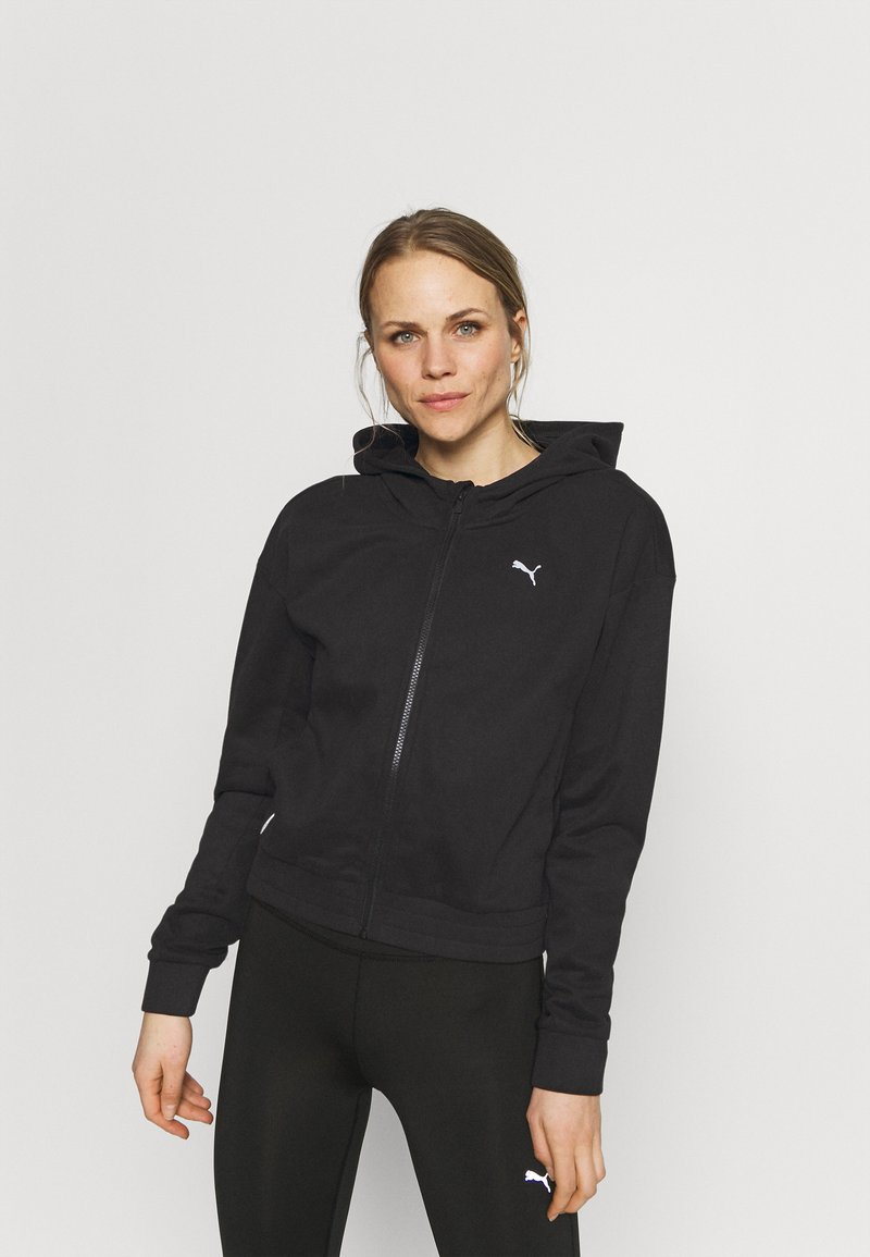 Puma - TRAIN FAVORITE FULL ZIP - Zip-up hoodie - black