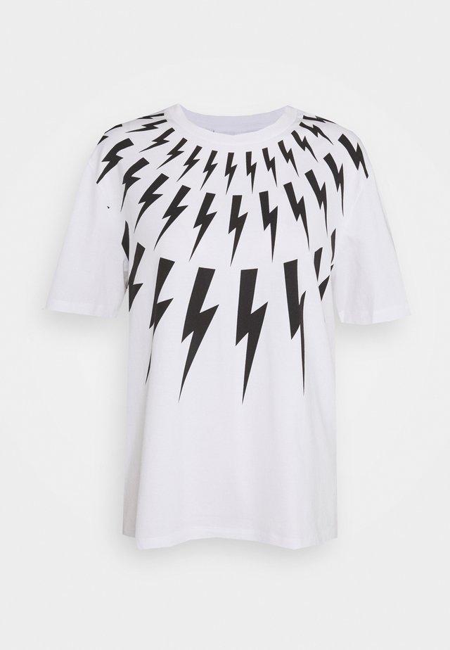 FAIR ISLE THUNDERBOLT - T-shirt med print - white/black