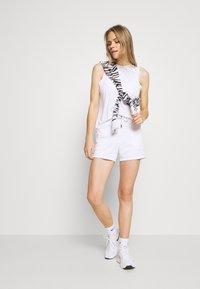 DKNY - MINI LOGO SHORT - Sports shorts - white - 1