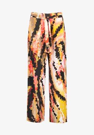 Trousers - papaya gemustert