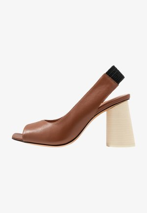 ANSA - High heeled sandals - tan