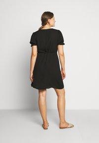 Cotton On Curve - WRAP MIDI DRESS - Day dress - black - 2