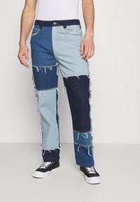 Jaded London - PATCHWORK SKATE - Straight leg jeans - blue - 0