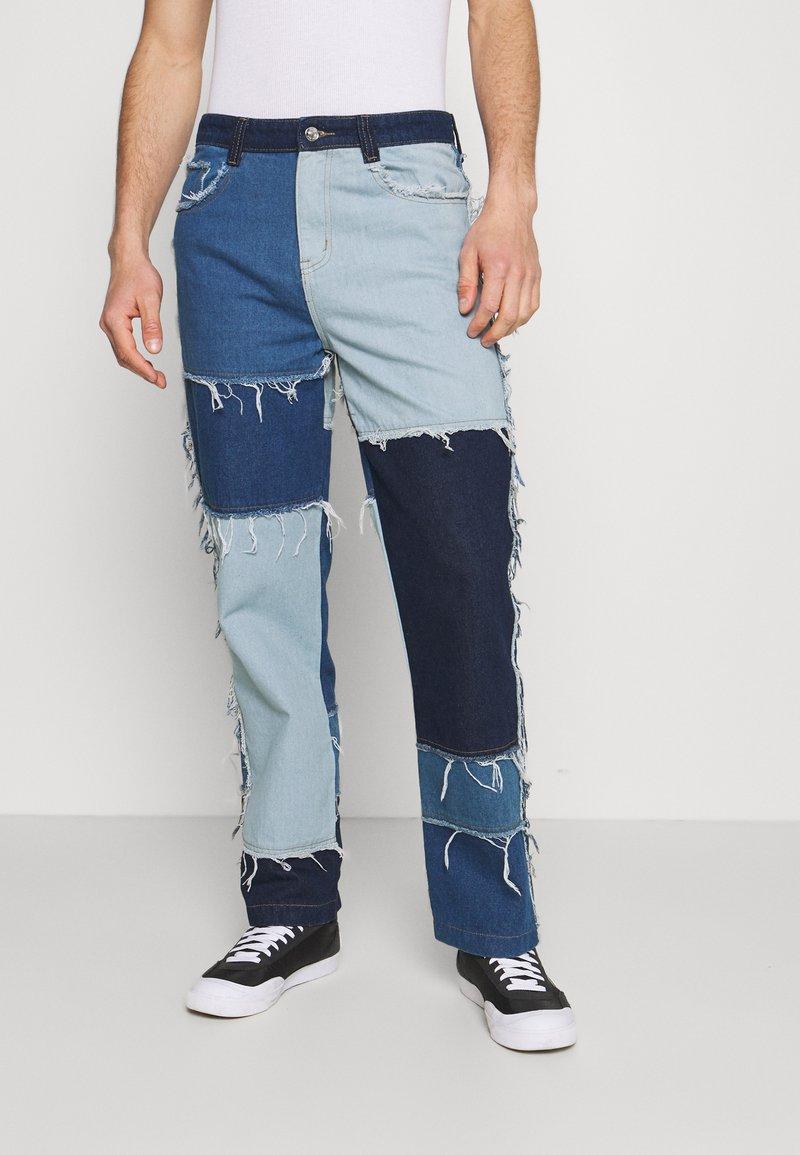Jaded London - PATCHWORK SKATE - Straight leg jeans - blue