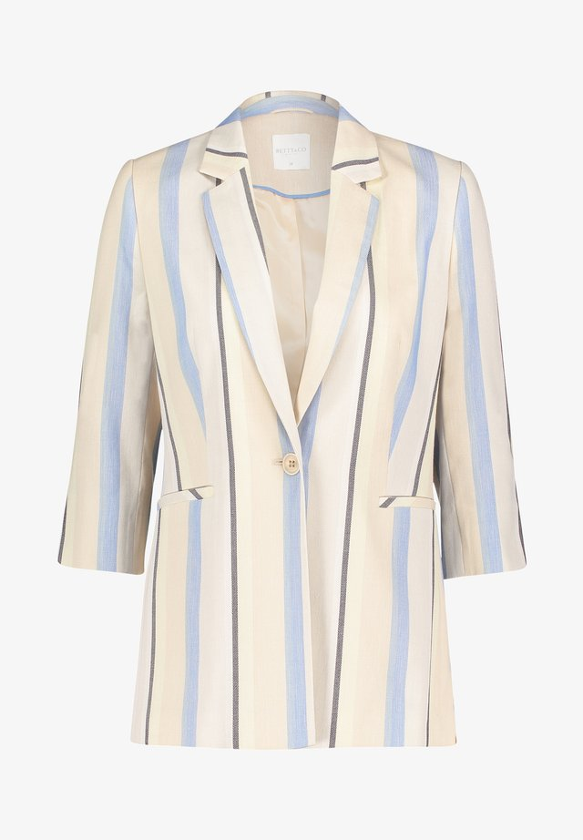 Short coat - light blue/cream