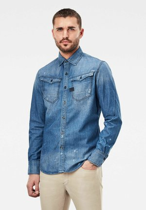 ARC 3D SLIM - Camicia - faded aegean blue