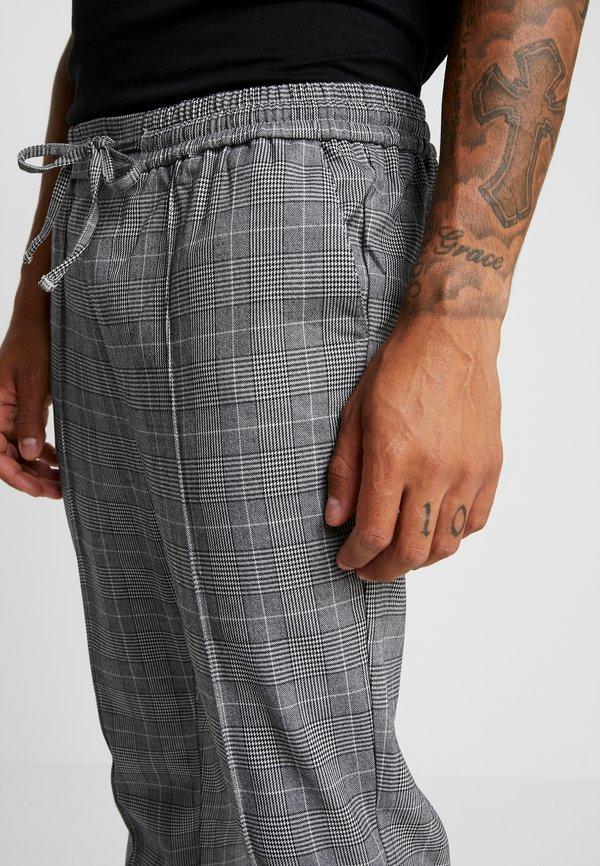 Kings Will Dream FLICK CHECK - Spodnie materiałowe - black/czarny Odzież Męska ATHB