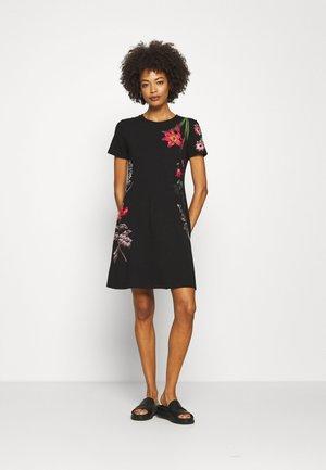 CAROLINE - Žerzejové šaty - black