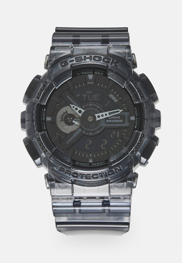 BLACK SKELETON GA-110SKE UNISEX - Montre à affichage digital - transparent/black