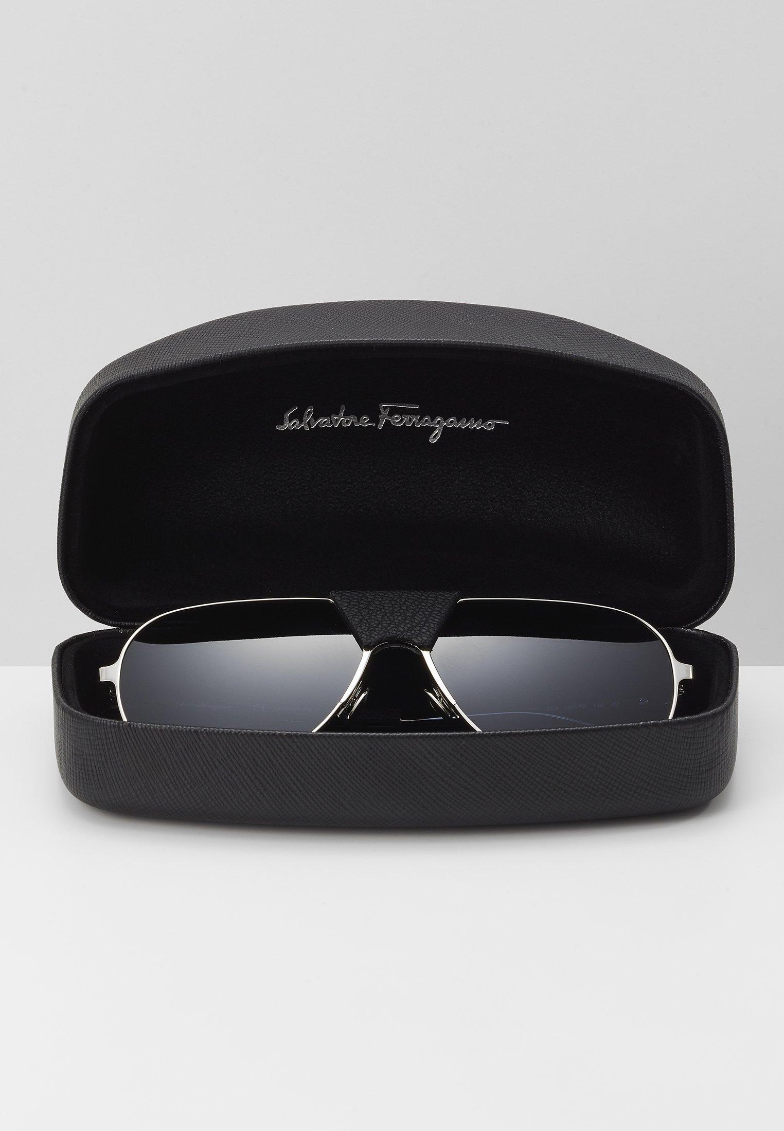 Salvatore Ferragamo Lunettes de soleil - light gold-coloured/black