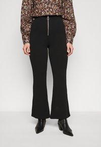 Vero Moda Curve - VMSILCO PANT - Trousers - black - 0