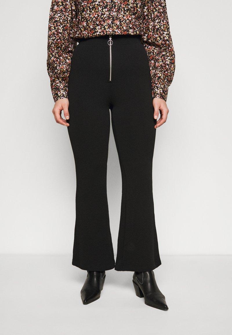 Vero Moda Curve - VMSILCO PANT - Trousers - black