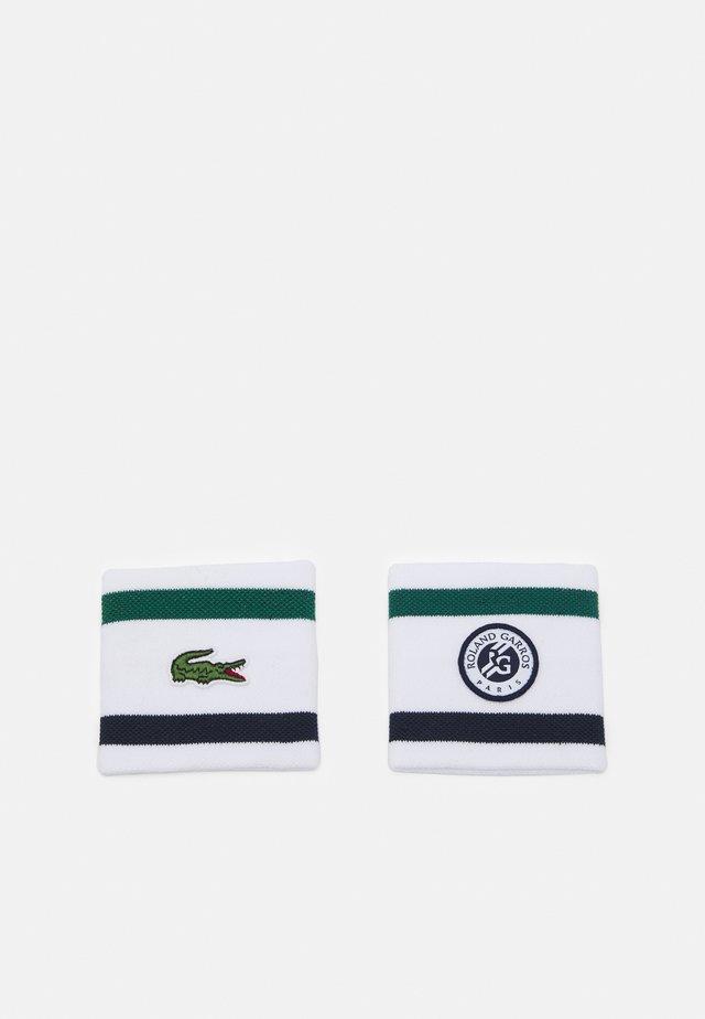 WRISTBAND UNISEX - Ranneke/hikinauha - white/bottle green/navy blue