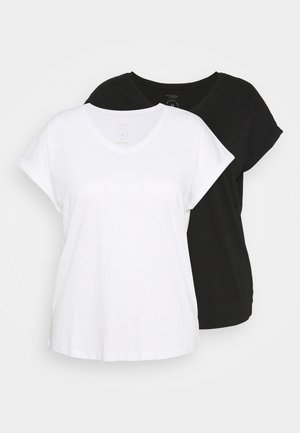 2 PACK - Basic T-shirt - black