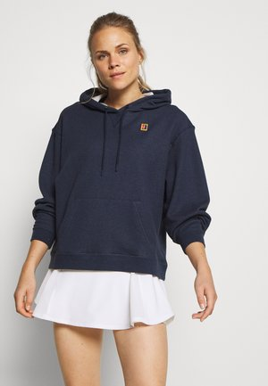 HERITAGE HOODIE - Bluza z kapturem - obsidian heather/white