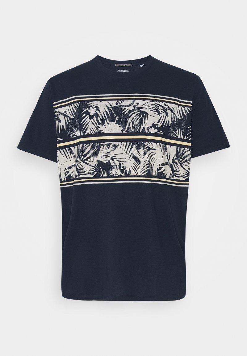 Jack & Jones - JORSUNNYS TEE CREW NECK - T-shirt med print - navy blazer
