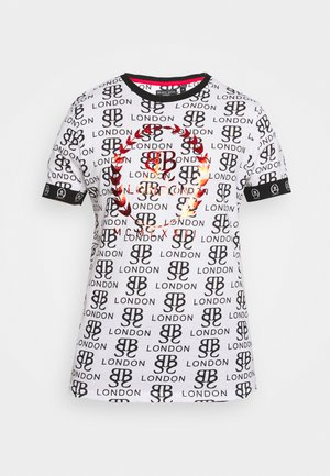 T-shirt med print - optic white/black/red