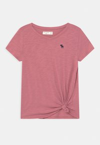 Abercrombie & Fitch - KNOT FRONT  - Print T-shirt - heather rose - 0