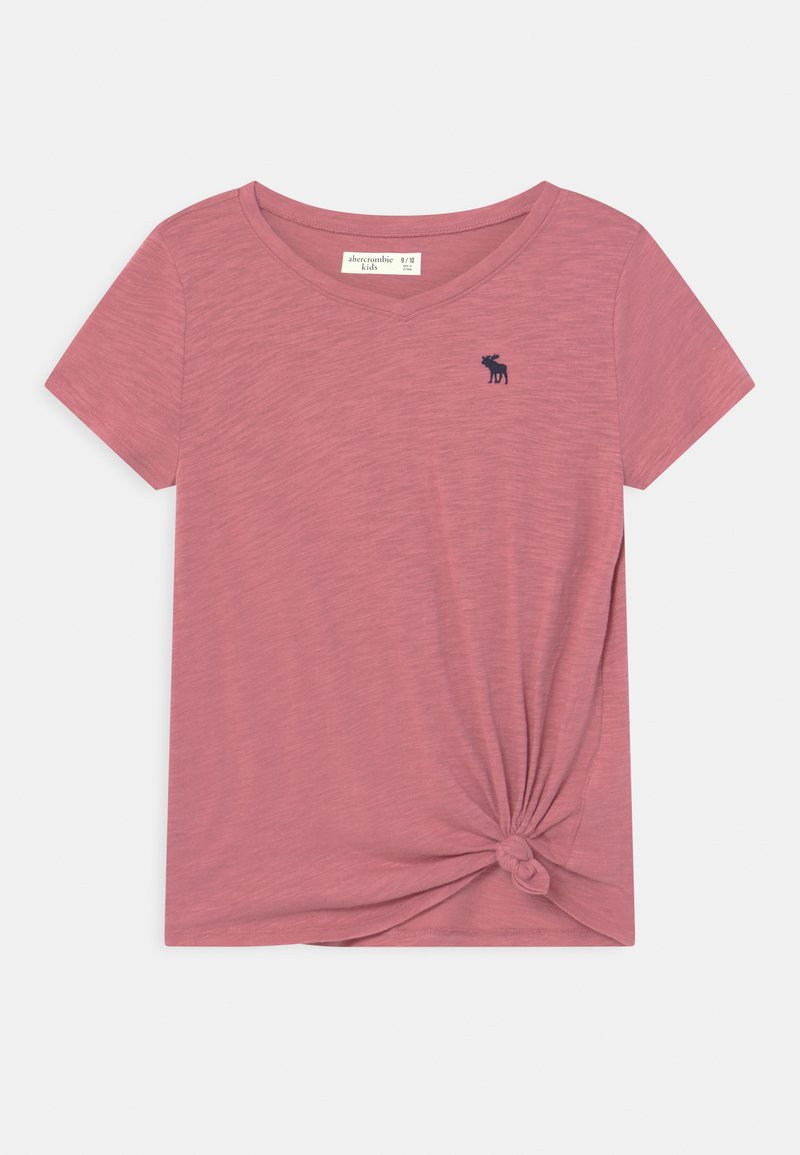 Abercrombie & Fitch - KNOT FRONT  - Print T-shirt - heather rose