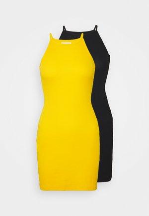 2 PACK - Denní šaty - black/yellow
