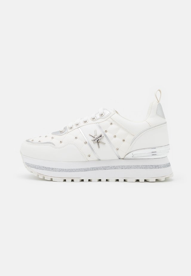 Sneakers laag - soft bianco/argento