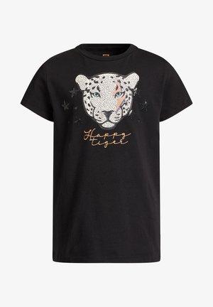 MET GLITTEROPDRUK - T-shirt print - black