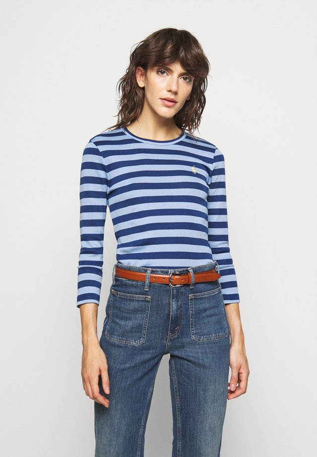 STRIPE LONG SLEEVE - T-shirt à manches longues - chambray blue