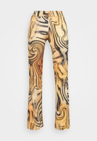 FRONT BOOTCUT TROUSER TIGER SWIRL - Trousers - multi