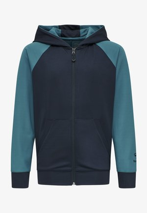 ACTION - Zip-up hoodie - dark sapphire/blue coral