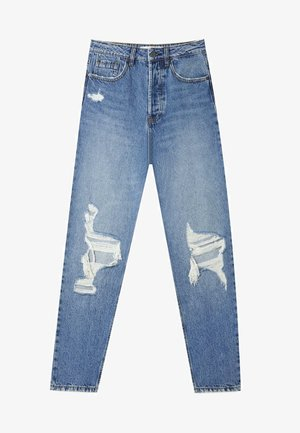 MIT SCHLITZEN  - Slim fit jeans - blue denim