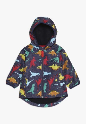 BABY COLOURFUL DINO - Waterproof jacket - navy
