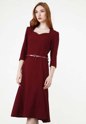 Day dress - weinrot